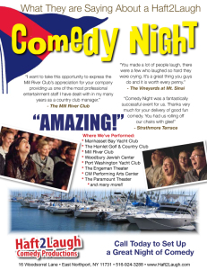 Comedy at Your Yacht Club Flier Back
