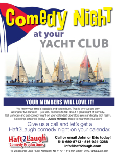 Comedy at Your Yacht Club Flier Front