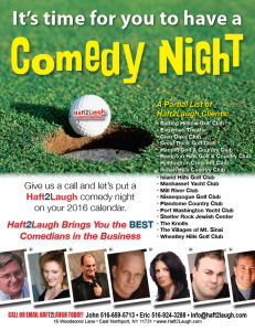 It's Time to Have a Comedy Night - GMLI ad