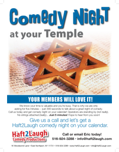 Comedy at the Temple - front